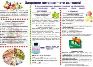 Буклет о здоровом питании